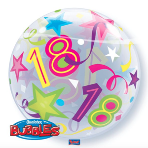 Bubble 18 jaar Party Balloon