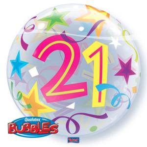 Bubble 21 jaar Party Balloon