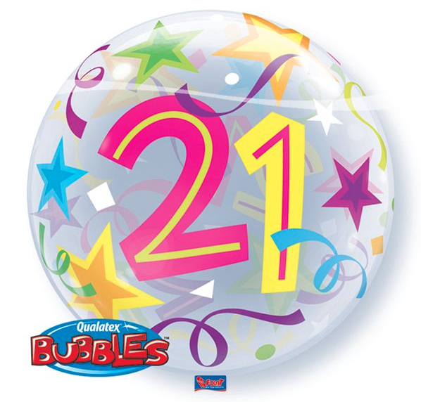 Bubble 21 jaar Party Balloon