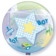 Bubble geboorte jongen achterkant