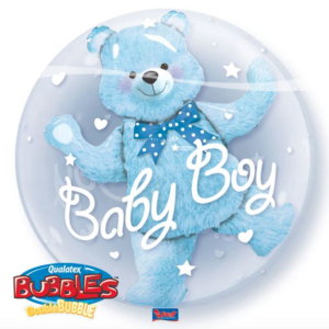 Bubble geboorte jongen met folie
