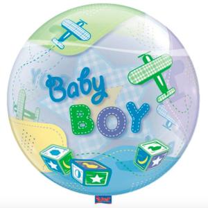 Bubble geboorte jongen voorkant