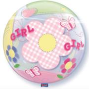 Bubble geboorte meisje achterkant