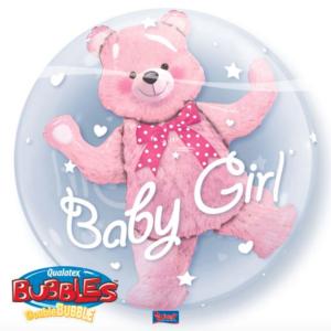 Bubble geboorte meisje met folie