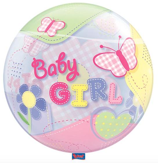 Bubble geboorte meisje voorkant