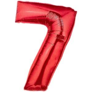 Cijfer rood 7 Party Balloon