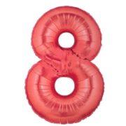 Cijfer rood 8 Party Balloon