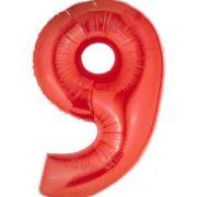Cijfer rood 9 Party Balloon