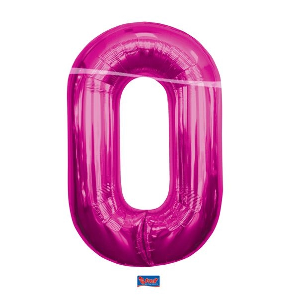 folieballon+cijfer+0+hard+rose+86cm