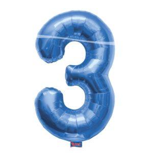folieballon+cijfer+3+blauw+86cm