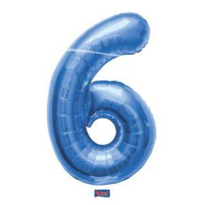 folieballon+cijfer+6+blauw+86cm