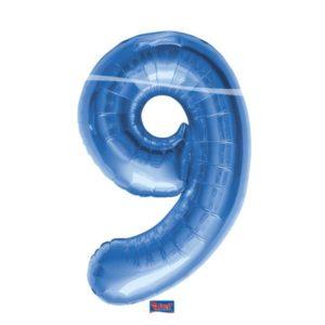 folieballon+cijfer+9+blauw+86cm