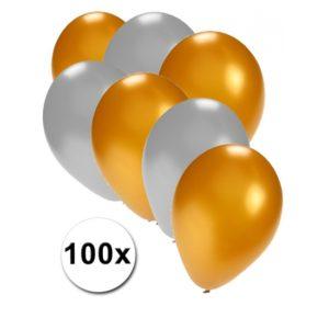 Ballonnen 100 stuks Metallic