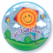 Bubble ballon get well soon