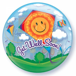 Bubble ballon get well soon