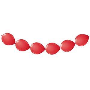 Doorknoop ballonnen rood