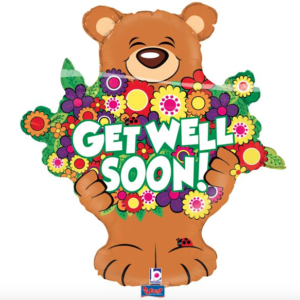 Folie ballon beertje get well soon
