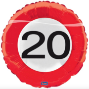 Folie verkeersbord 20