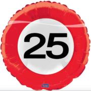 Folie verkeersbord 25