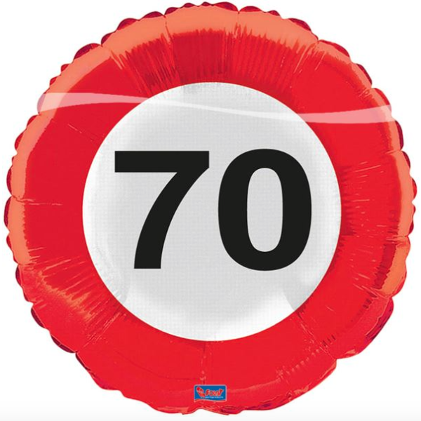 Folie verkeersbord 70