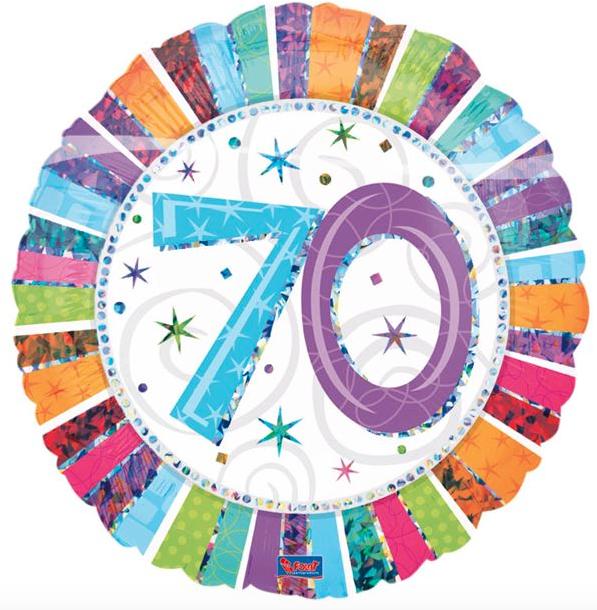 Favoriete Folie ballon 70 jaar ~ Party Balloon VJ-36