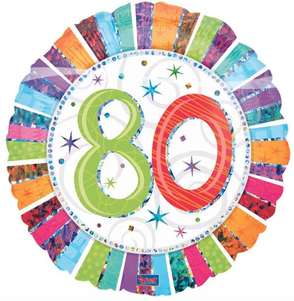 afbeelding 80 jaar Folie ballon 80 jaar ~ Party Balloon afbeelding 80 jaar