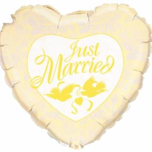 Folieballon XL just married goud