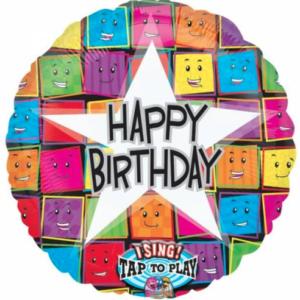 Muziekballon Happy Birthday
