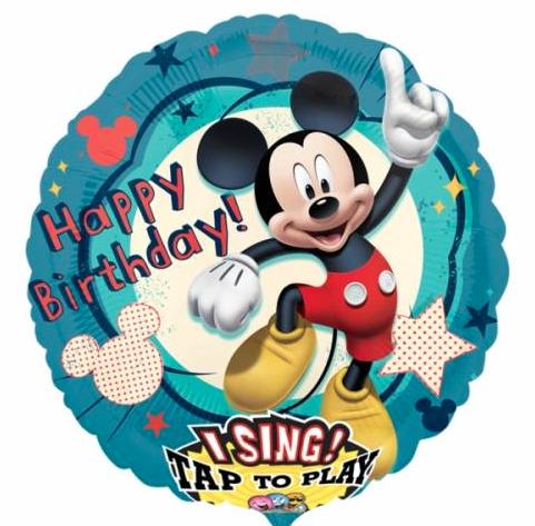 Muziekballon Mickey Mouse Verjaardag Party Balloon