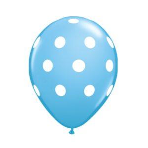 ballon stippen l.blauw