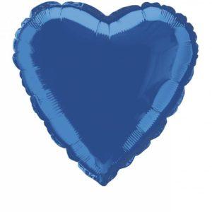 folieballon-hart-donkerblauw-18inch
