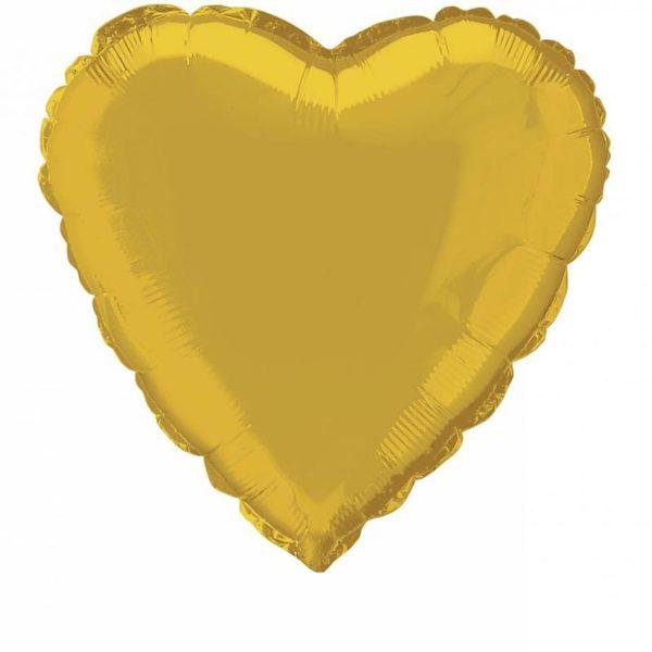 folieballon-hart-goud-