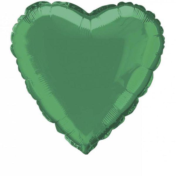 folieballon-hart-groen-18inch