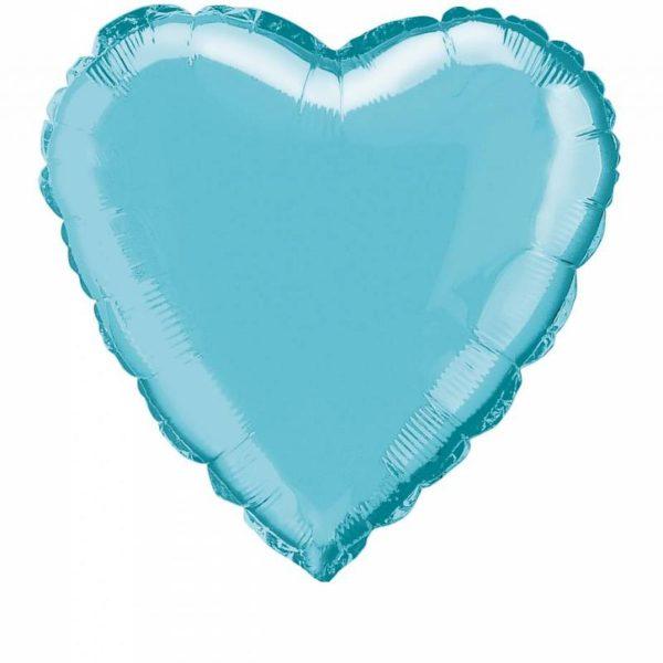 folieballon-hart-lichtblauw-18inch