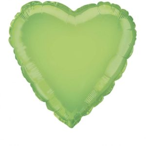 folieballon-hart-lime-groen-18inch