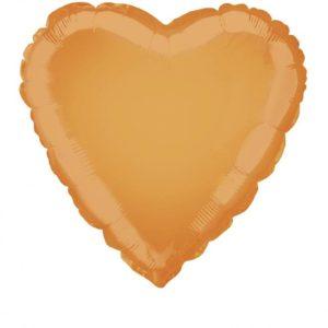 folieballon-hart-oranje-18inch