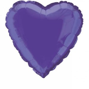 folieballon-hart-paars-18inch