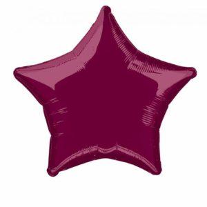 folieballon-ster-burgundy-20inch
