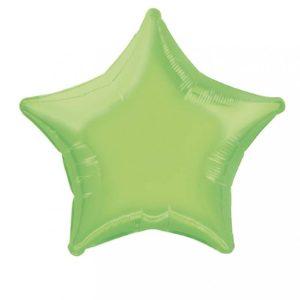 folieballon-ster-lime-groen-20inch