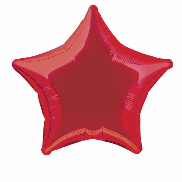 folieballon-ster-rood-20inch