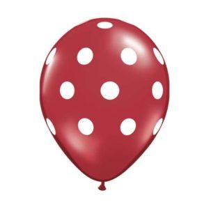 rood-wit-stippen-ballon