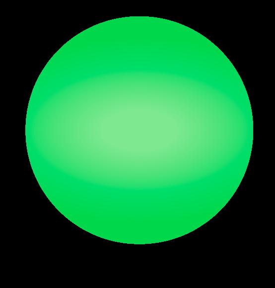 Reuzenballon limegroen