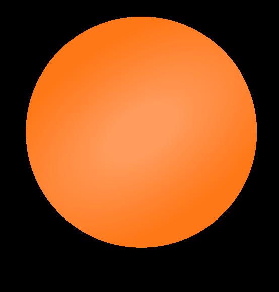 Reuzenballon oranje