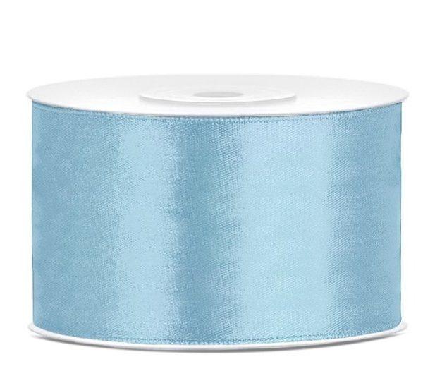 Satijn lint 40 mm Licht blauw