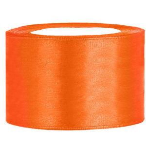 Satijn lint 40 mm Oranje