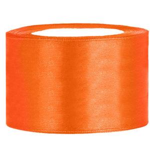 Satijn lint 40 mm Oranje