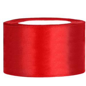 Satijn lint 40 mm Rood