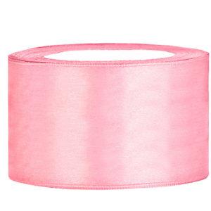 Satijn lint 40 mm Roze