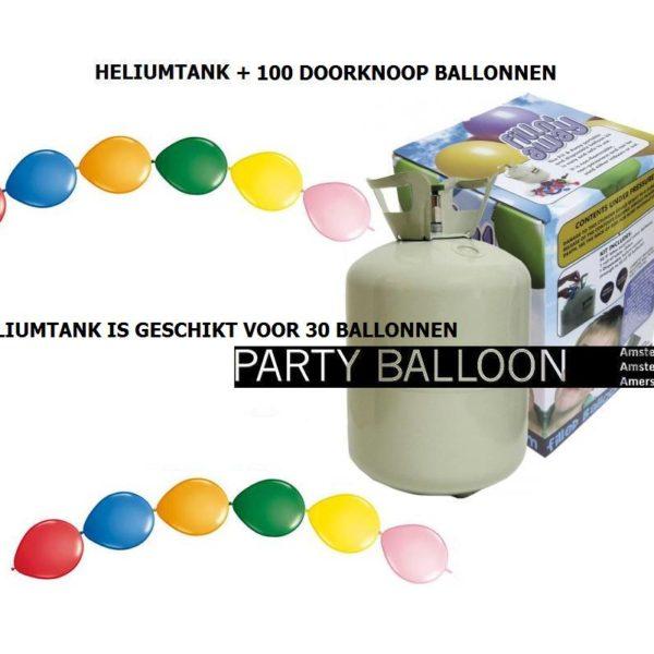 heliumtank+doorknoop ballonnen ASS 30