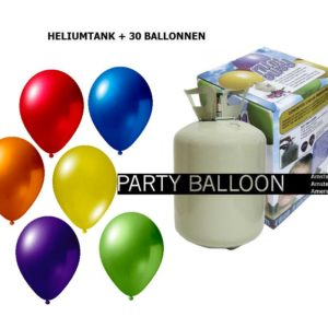 heliumtank+voor+circa+30+ballonnen ASS metallic